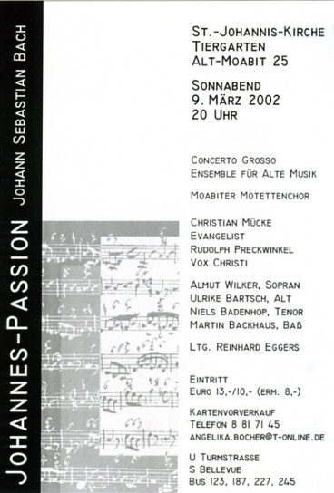 Bach 2002 Johannespassion